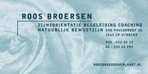 Roos Broersen visitek.Zijn.Roos